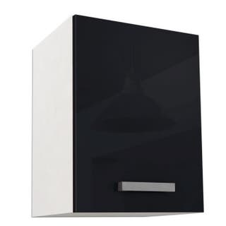Armario de cocina alto L 40 cm - Negro brillante