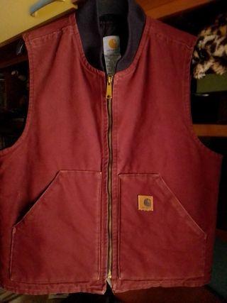 Chaleco Carhartt vest USA made burgundy M