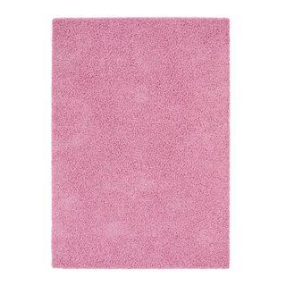 Alfombra rosa pelo largo IKEA