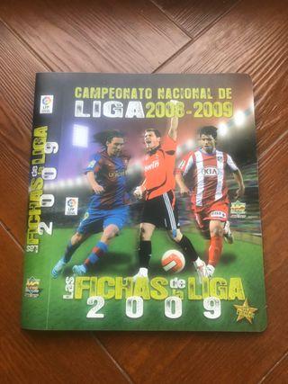 Album+algunas fichas de la Ligas del 2008-2009