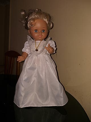 muñeca antigua de comunion