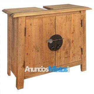 Armario tocador cuarto de baño madera reciclada pi