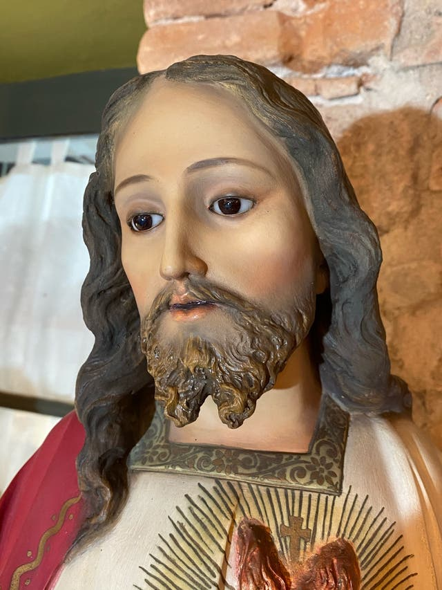 Gran Sagrado corazón jesus antiguo 106cn altura
