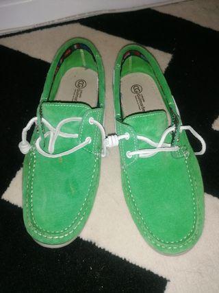 zapatillas hombre piel verde talla 42