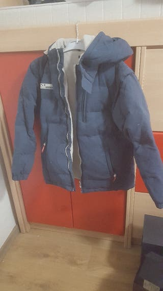 €10 chaquetón plumas talle 14