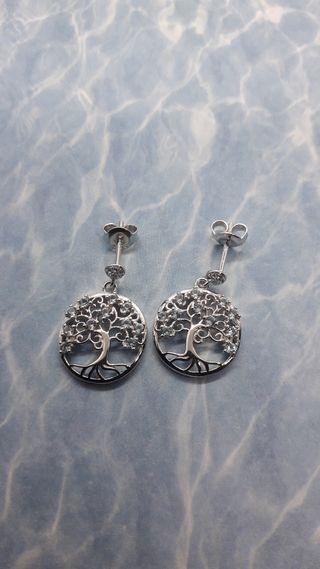 Life Tree Created Spinel Dangle Drop Earrings