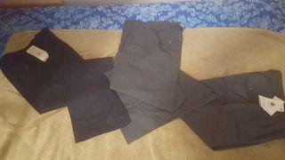 €10 lote 3 pantalones uniforme escolar talle 1416