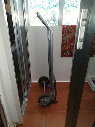 Carretilla de hierro ruedas de goma