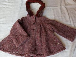 Abrigo/capa niña burdeos