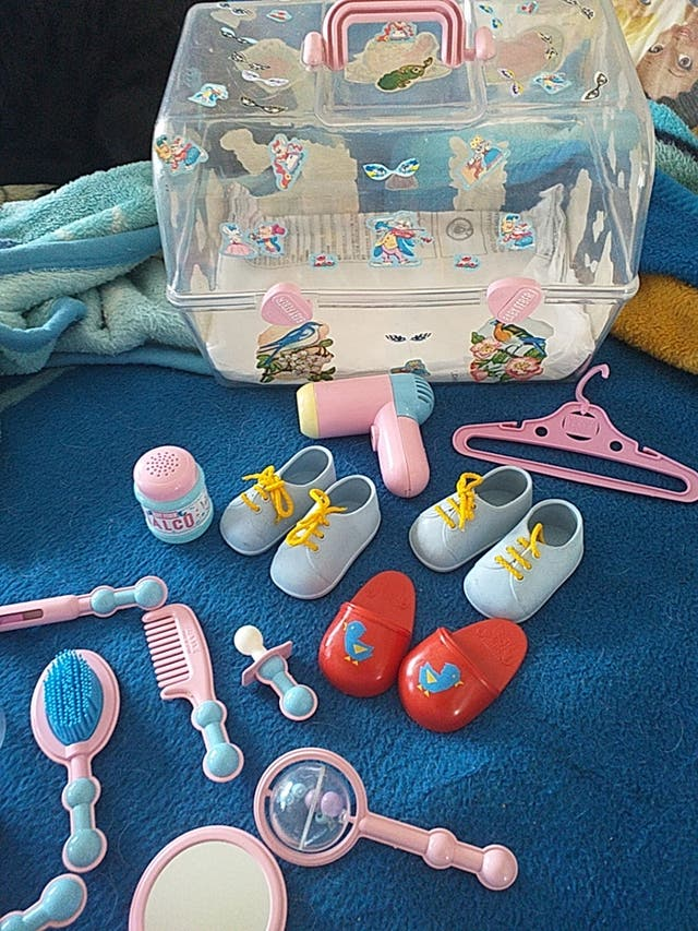 lote maletin baby feber accesorios