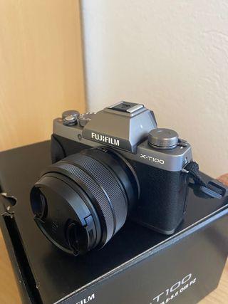 Fujifilm X-T100 24.2MP Wifi Plata