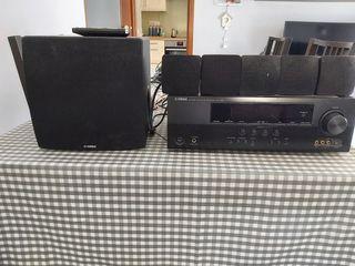 sistema de sonido 5.1,amplificador Yamaha,de 24