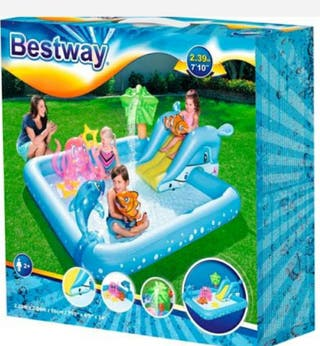 PISCINA INCHABLE/INFLABLE BESTWAY + Suelo goma