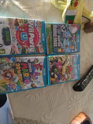 4 juegos Wii u