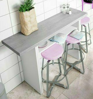Consola mesa desplegable cocina estrecha