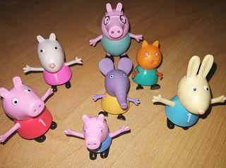 7 Muñecos de la serie Peppa Pig