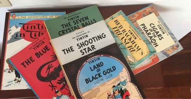 """20 comics """"Tintin"""" en inglés"""