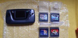 Consola Game Gear con juegos