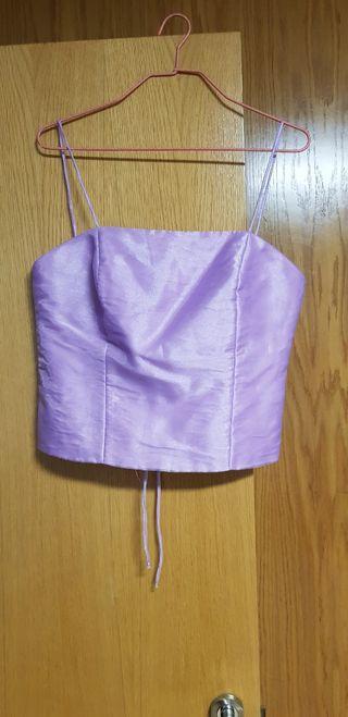 conjunto de falda corpiño y pasmina