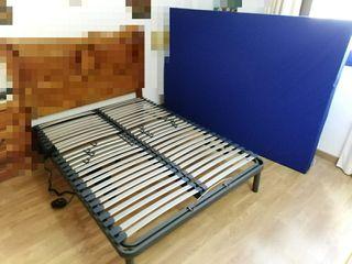 Cama articulada con colchón sanitario 135x190cm