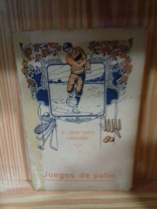 Libro Juegos de patio José Oses Larumbe