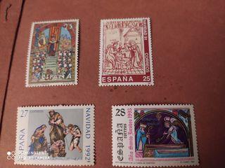 Sellos España Navidades 1992...