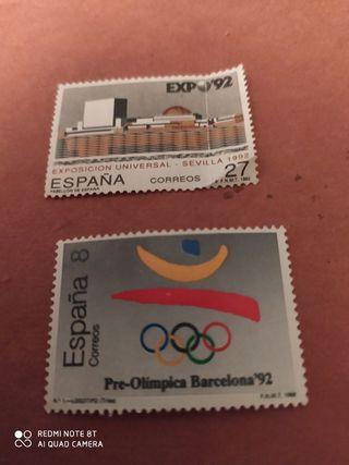 Sellos Expo '92. España.