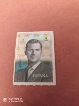Sello Felipe VI Tarifa A. Con brillo..