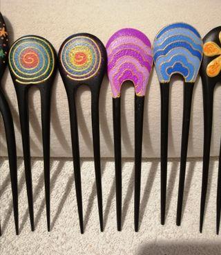 pinchos para el pelo étnico