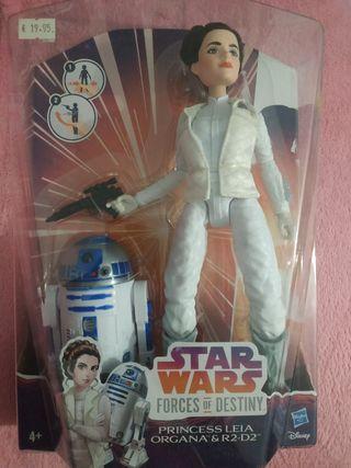 Muñeco STAR WARS. Princesa Leia y R2-D2