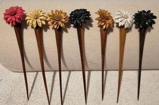 7x 4.50€ pinchos para el pelo flor