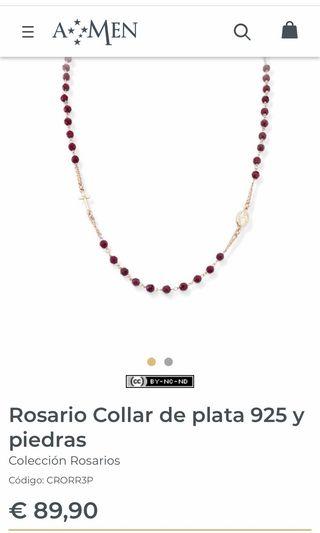"""ROSARIO COLLAR """"AMEN"""" DE 89,95€ POR 35€!! NUEVO."""