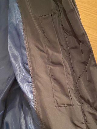 Plumas negro abrigo