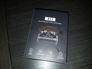 Auriculares inalambricos negro caja cargador usb