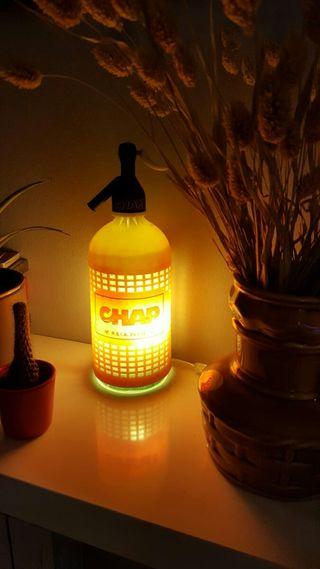 lámpara sifón vintage Chap luz calida ambiente