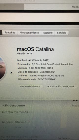 MacBook Air de 13 pulgadas como nuevo.
