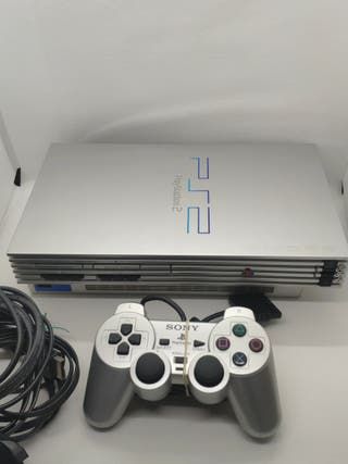 consola PlayStation 2 gris en perfecto estado
