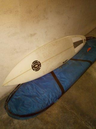 tabla de surf 184cm con funda