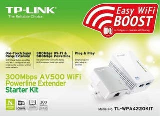 Repetidor Wi-Fi TP-Link WPA4220KIT 300 mbps AV500