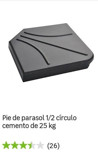 Piedra para sujetar sombrilla