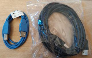 Pack de cables UBS tipo A a tipo B Macho