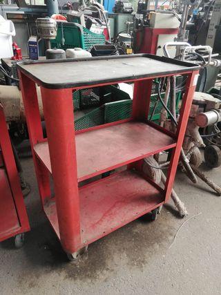 Carro metalico con ruedas para taller. 72x38x93