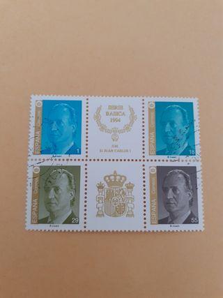 bloque sellos Juan Carlos I