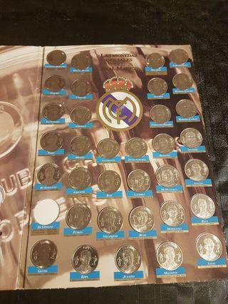 album y monedas Real Madrid