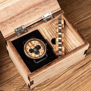 Reloj+Pulsera de madera