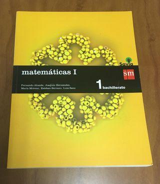 Libro Matemáticas primero Bto (SM)