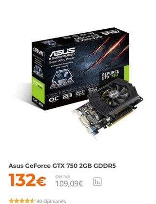 tarjeta grafica GTX 750 ASUS