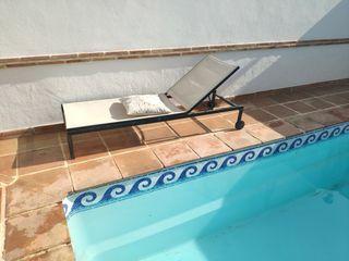 Tumbonas jardín piscina