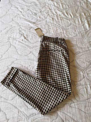 Pantalon capri t36 cuadros
