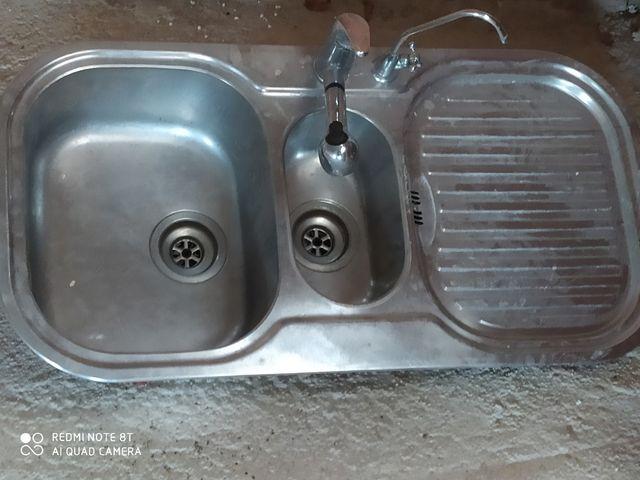 fregadero 2 senos con mangera y grigo de ormosi